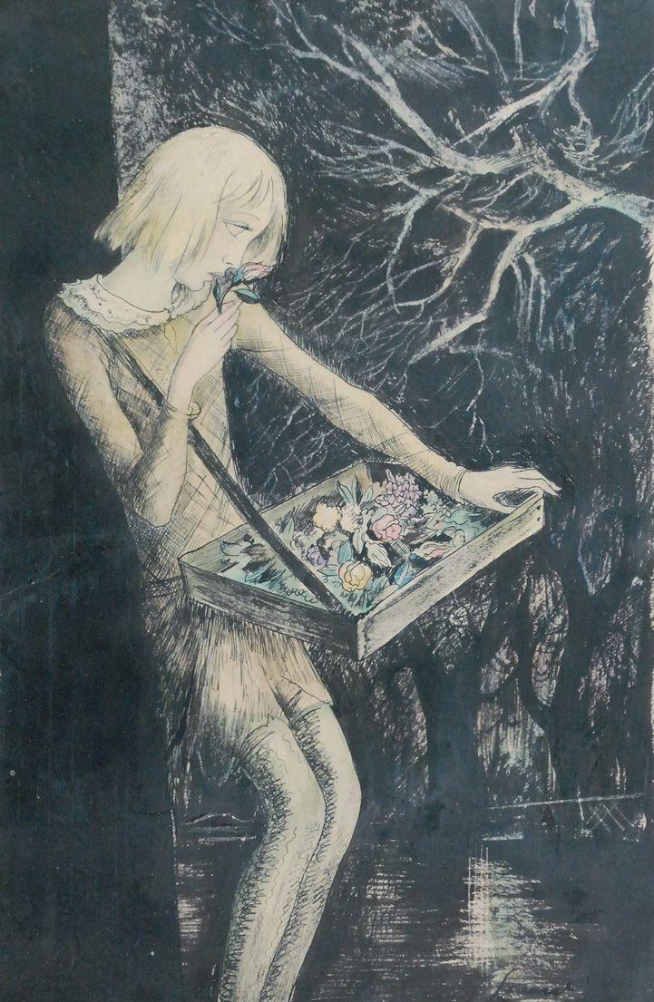 theshipthatflew:    realityayslum: Jan Marcin Szancer - The girl selling flowers, c.1928. via Rempex