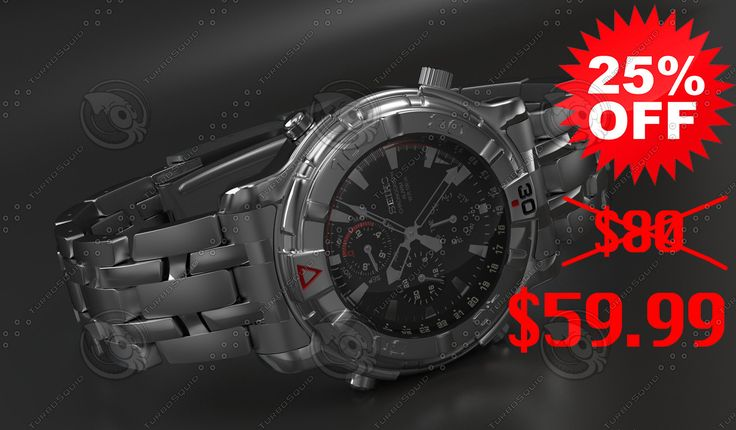 3D Seiko Mechanical Watch Model - 3D Model