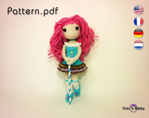 Pattern  Cookie the Majorette by CrocsBetty on Etsy