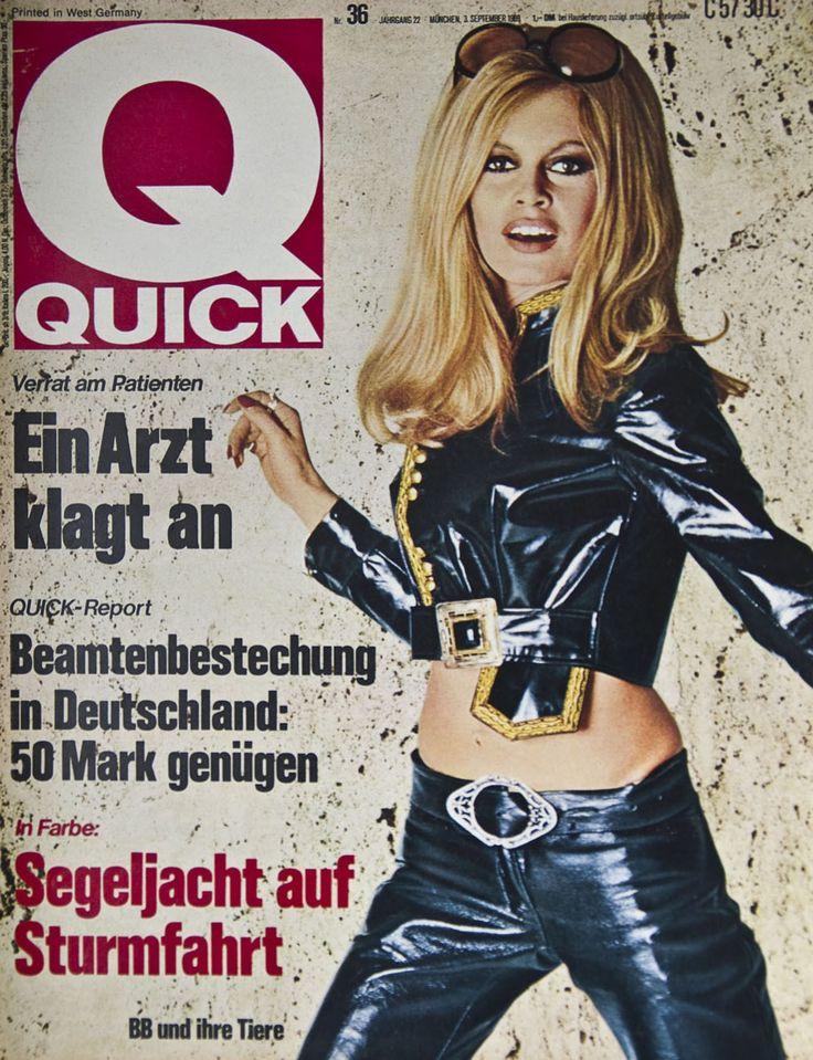 brigitte bardot on the cover of quick magazine september 1969 germany brigitte bardot. Black Bedroom Furniture Sets. Home Design Ideas