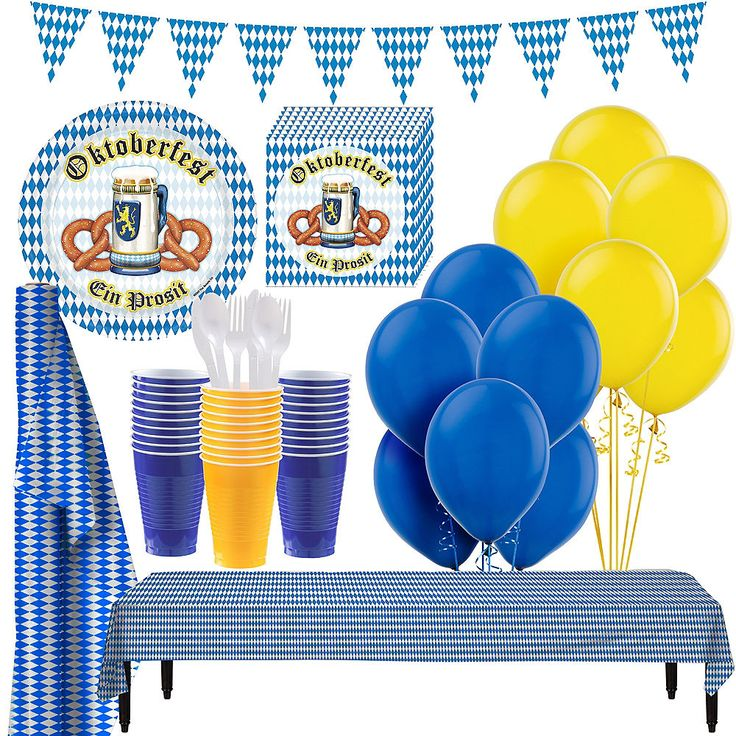 Oktoberfest Tableware Party Kit for 100 Guests Ima…