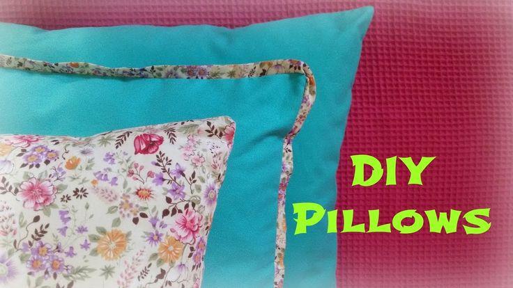 Envelope pillow cover. Μαξιλαροθήκη φάκελος για μαξιλάρι καναπέ