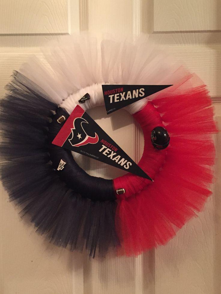 Houston Texans Tulle Wreath