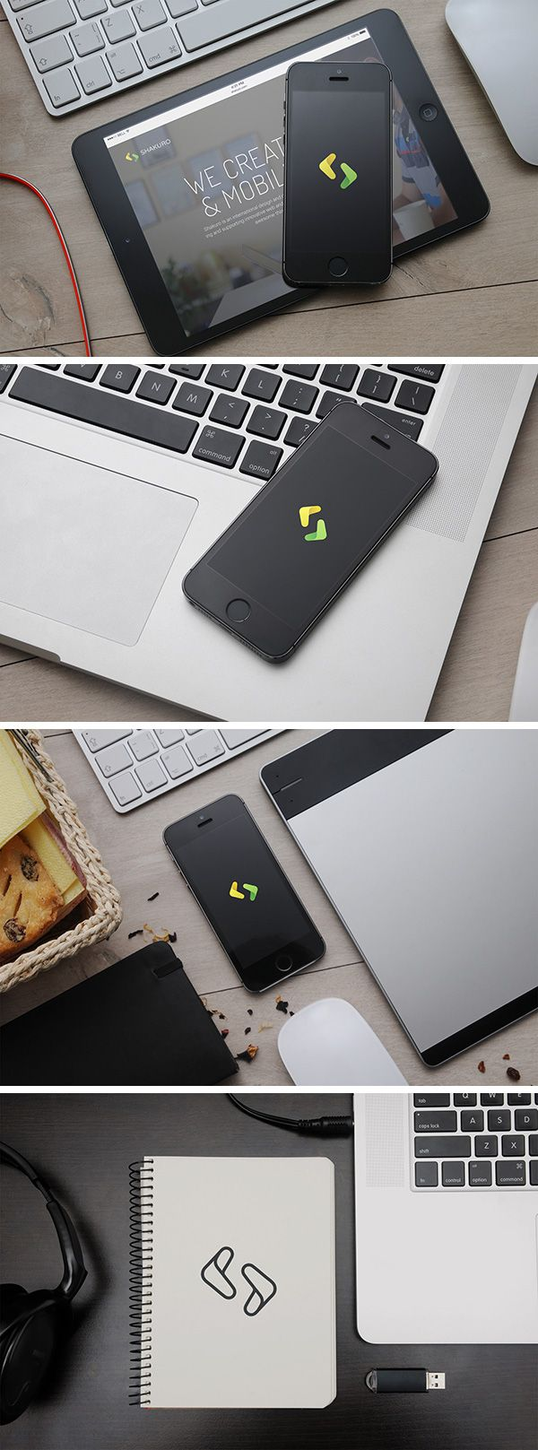 Here we have a collection of 4 Apple devices mock-ups that you can use freely to showcase and promote...