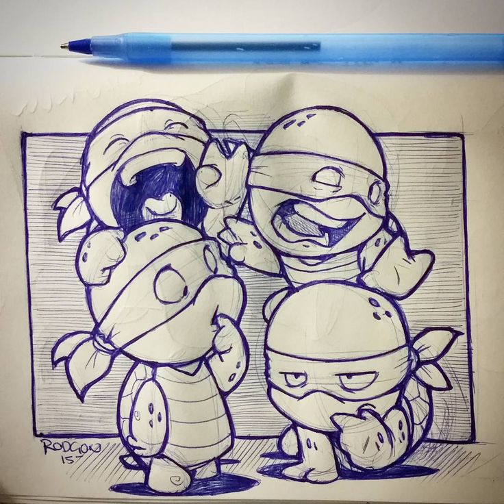 Late night cool down before bed. Been seeing tons of people drawing ninja turtles. So why not follow along :) n