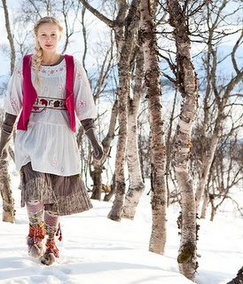 Gudrun Sjoden skirt ends just above boots.  Love the tunic
