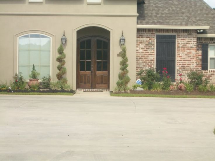 Stucco exterior home color schemes exterior color - Tony taupe sherwin williams exterior paint ...