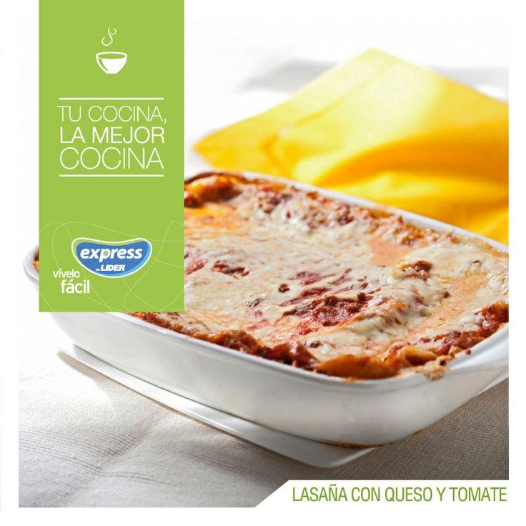 Lasaña con queso y tomate. #Recetario #Receta #RecetarioExpress #Lider #Food #Foodporn