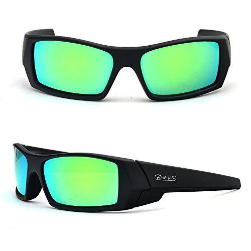 598d4c3b9ca BNUS Unisex Ranger Rectangular Sports Polarized Sunglasses shade for men  women Italian made Corning natural glass