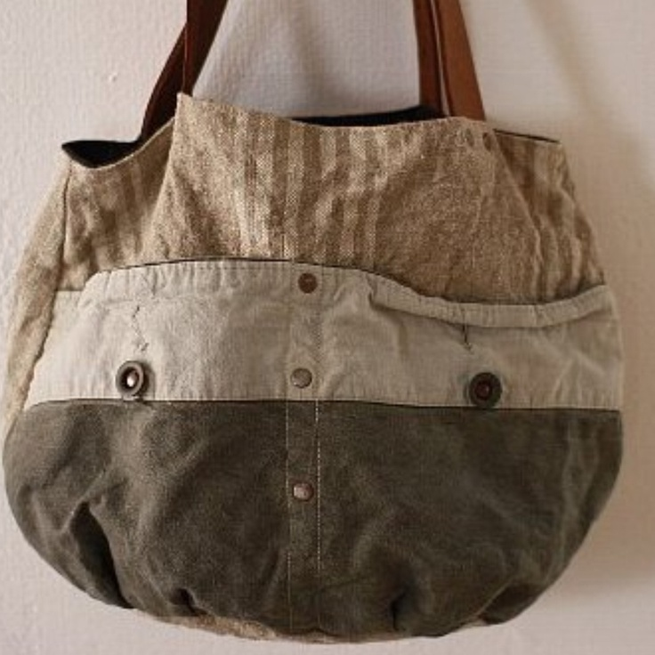 Casual bag - up-cycled remnants