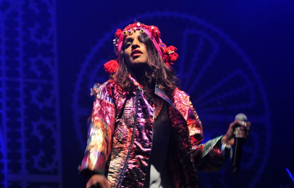 M.I.A. performs in Newport, Isle of Wight.
