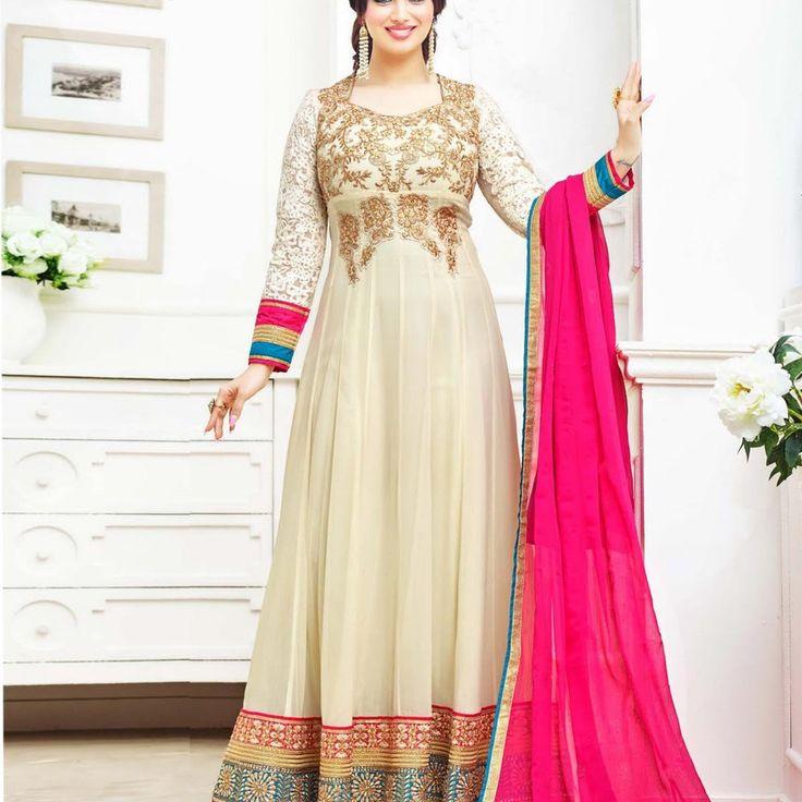Ayesha Takia Creame Bollywood Anarkali Suit » Shoppers99 #bollywood #ayeshatakia #anarkalidress #anarkalisuit #partywear #partydress #indian #ethnic #eid