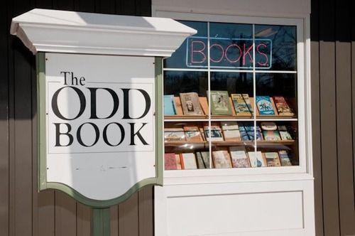 Libraries, bookstores, bookshelves, nooks and desks. / The Odd Book. Wolfville, Nova Scotia.