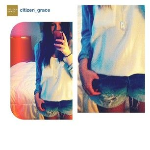 #regram from @citizen_grace One of their lovely customers rocking a little #bbrevisedvintage #spotted #ombreshorts #reworked #vancouverfashion #cgsyle