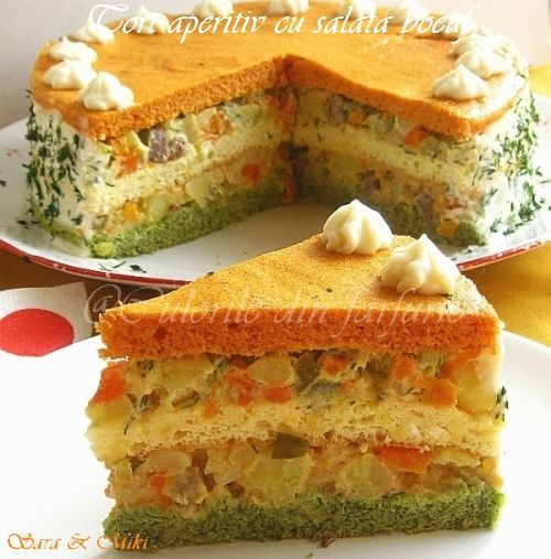» Tort aperitiv cu salata boeufCulorile din Farfurie