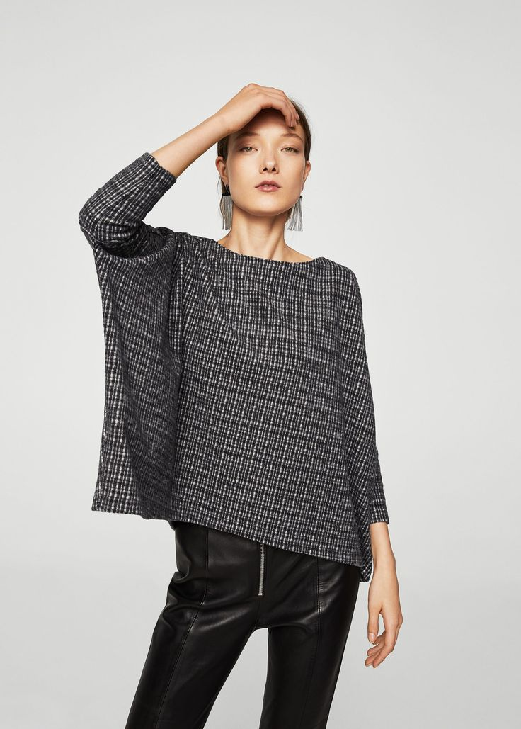 Camisola textura quadrados (cinza): MANGO (22,99€)
