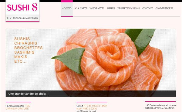 Restaurant Web Designs: 40 Yummy Cafe & Restaurant Websites and Trends    Source: http://designmodo.com/restaurant-web-designs