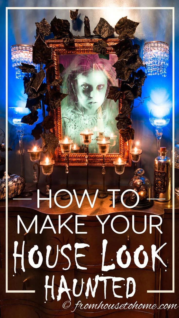 I love these Halloween haunted house decorating ideas! I really want to do a haunted house for my Halloween party this year and didn't know what to do. Now I have some great ideas!! Definitely pinning!