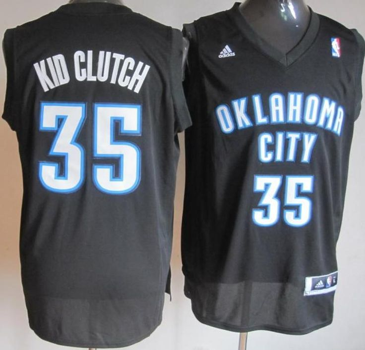Oklahoma City Thunder 35 Kevin Durant Black Kid Clutch Fashion Swingman NBA Jerseys