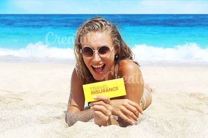 girl on the beach by Trefilova Anna on @creativemarket