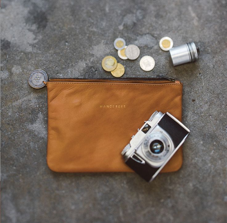 """""""Le Saint Tropez"""" full grain leather everyday travel pouch in tan by Wanderers Travel Co. wandererstravelco.com Photo by @scottsurplicephotography"""