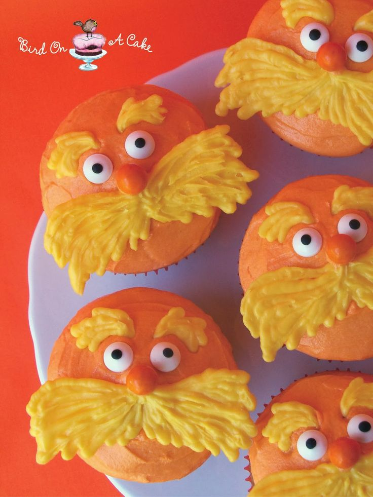 Bird On A Cake: Dr. Seuss' The Lorax Cupcakes