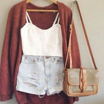 shorts shirt bags high waisted short crop tops jacket cardigan high waisted shorts