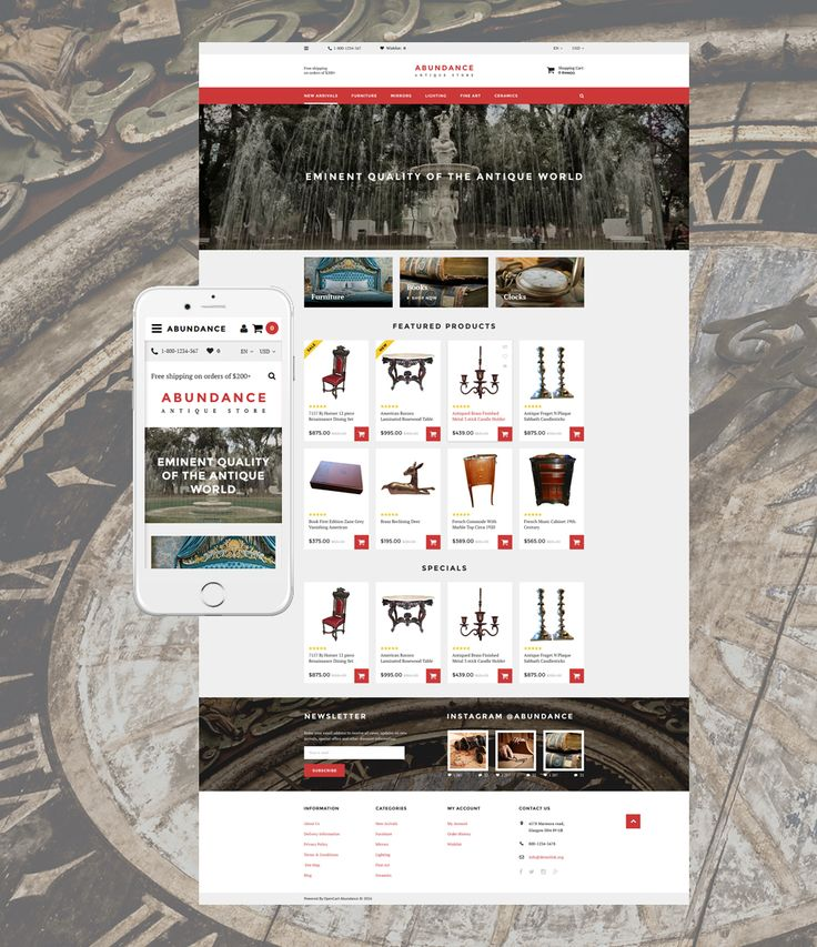 Antique Mall OpenCart Template