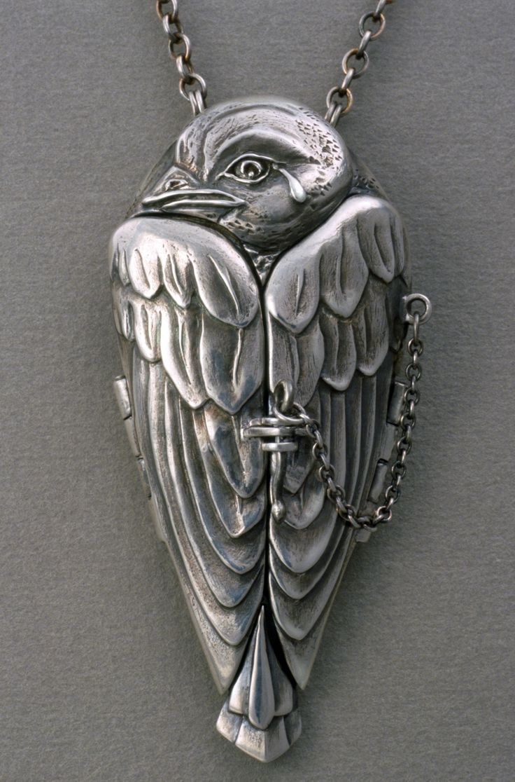 """A Tear for Icarus"" fine silver locket, Terry Kovalcik. I love this sooo much. If you love it too check out the pic of the interior of the locket. So cool. I'd love one..."
