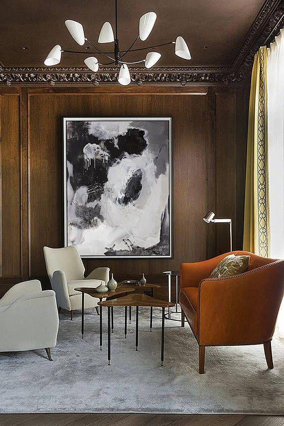 Large Original Painting Black And White Extra Large Canvas Art