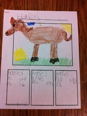 We started our week learning all about horses and cowboys. We read Horses by Gail Gibbons and then wrote about horses.   horses bubble map  ...