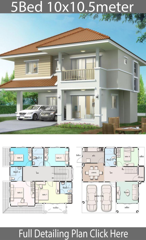 House Design Plan 10x10 5m With 5 Bedrooms Home Design With Plansearch Tata Letak Rumah House Blueprints Desain Depan Rumah