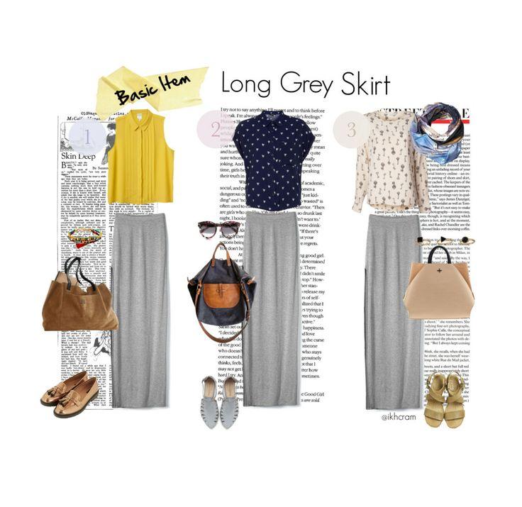 basic item : long grey skirt!