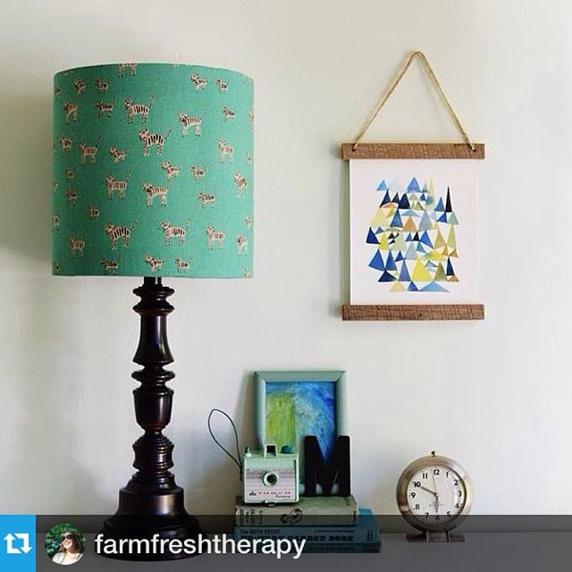 Yay! Love this DIY lampshade that @farmfreshtherapy made for her baby nursery, using one of our DIY Lampshade Kits. #Repost  #lampshade #lamp #diy #baby #handmadehome --- Made this little lampshade for baby m's room with @cottonandsteel fabric from @sewtospeak and this awesome lampshade kit from @ilikethatlamp #handmadehome #DIY #babyboymohrman #cottonandsteel