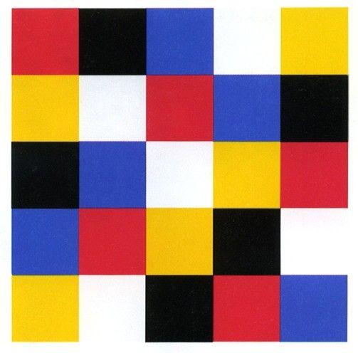 Kleur tegen kleur contrast/ kleur tegen kleur hierbij worden vaak de basiskleuren rood blauw en geel gebruikt