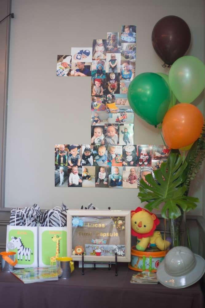 Lucas's Jungle/Safari 1st Birthday Party | CatchMyParty.com