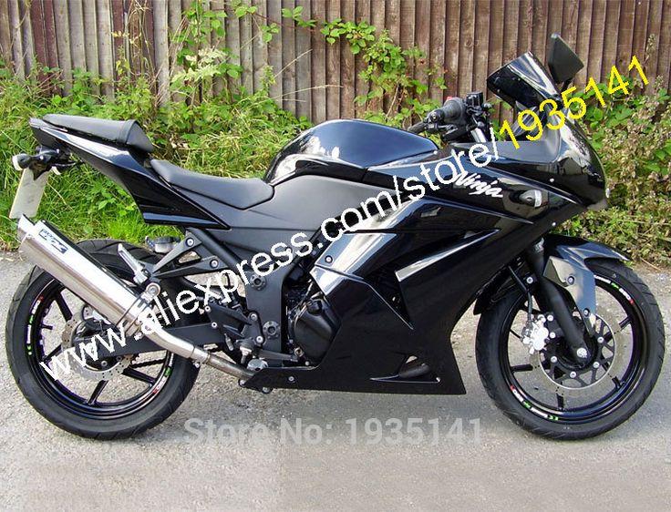 Hot Sales,For Kawasaki Ninja ZX 250R ZX250 2008 2009 2010 2011 2012 EX250 08-12 All Black Motorcycle Fairing (Injection molding)