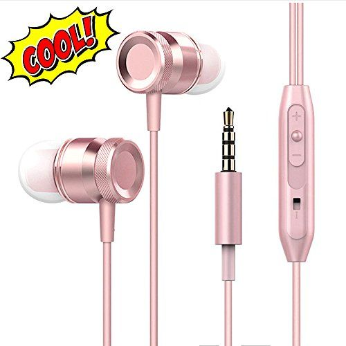 Lingoboi New Fashion Headphones,Headphones In-Ear Earbuds Earphones, 3.5mm Jack Metal Housing Best Wired Bass Stereo Headset Built-in Mic/Hands-free/Volume Contro+3 Pair EarBuds (S/M/L) (Silvery) - Rose Gold  https://topcellulardeals.com/product/lingoboi-new-fashion-headphonesheadphones-in-ear-earbuds-earphones-3-5mm-jack-metal-housing-best-wired-bass-stereo-headset-built-in-michands-freevolume-contro3-pair-earbuds-sml-silvery/?attribute_pa_color=rose-gold  [Stereo surrounded