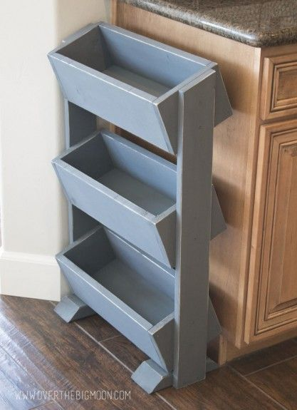 Ana White   Build a DIY Produce Stand for Under $30 - Featuring Over the Big Moon   Free and Easy DIY Project and Furniture Plans
