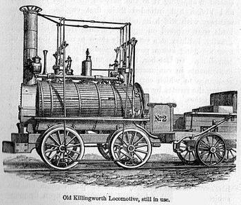 Killingworth Locomotive - Even though many inventors worked their entire lives on building trains, engines, infrastructure and technical support, the first man who managed to popularize trains in public fashion was Englishman George Stephenson. With his contributions, industry and general public finally accepted the trains as the transportation device of the future, enabling railways to spread first across England, Europe, North America, and then over the entire world.