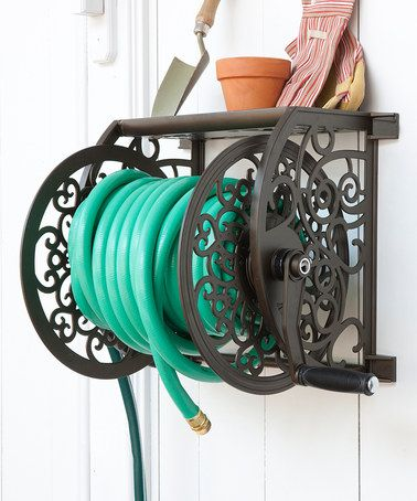 Look what I found on #zulily! Cast Aluminum Wall-Mount Hose Reel by Liberty Garden Products #zulilyfinds