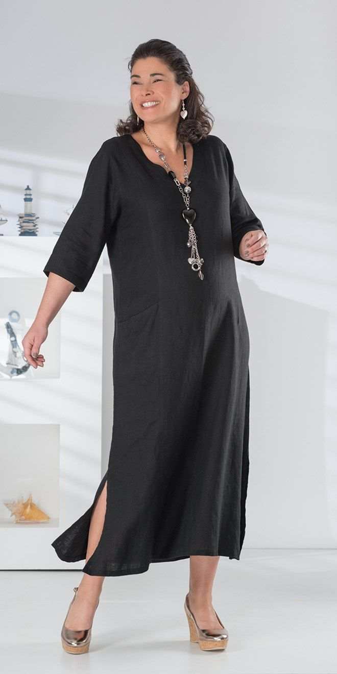 Kasbah black linen pocket dress