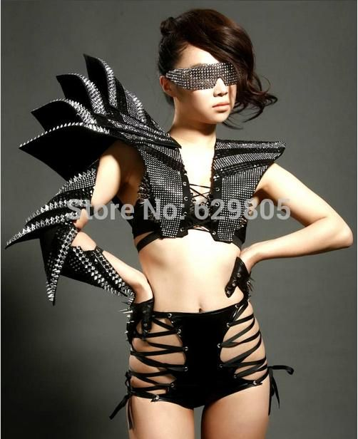 2016 2015 New Design Female Singer Women Ds Costumes Rivets Habergeons Armor Bodysuit Sexy Performance Clothing Sets Lady Gaga Dress Bodysuit From Jiongjiong125, $306.54 | Dhgate.Com