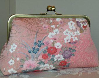 Silk Kimono Fabric Clutch/Bag/Purse..BridalWedding Gift..Cherry Blossom..Butterfly..Chrysanthemum..Clutch available to match..Obi Sash/Belt