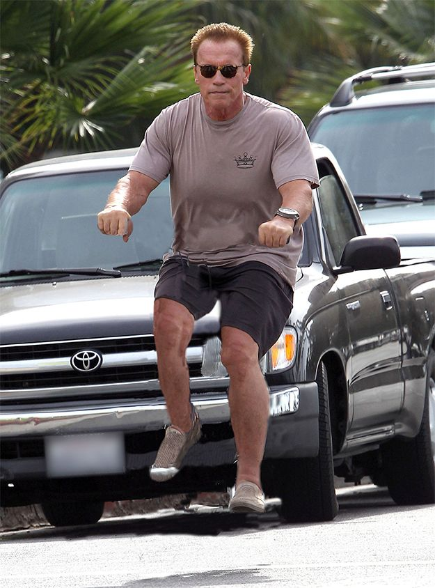 Celebrities Riding Invisible Bikes Is Weirdly Hilarious Arnold Schwarzenegger Quotes