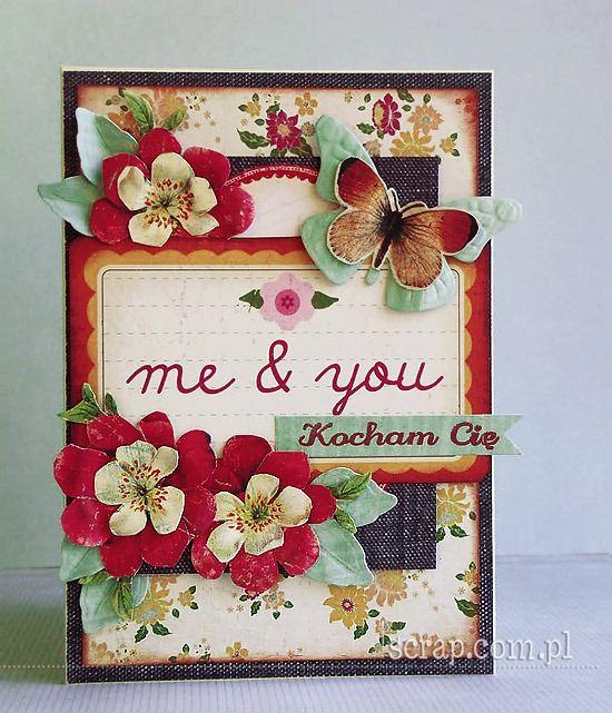 stempel Kocham Cię odbity tuszem pigmentowym w kolorze ochra czerwona  http://www.hurt.scrap.com.pl/tusz-pigmentowy-do-stempli-i-embossingu-ochra-cz.html