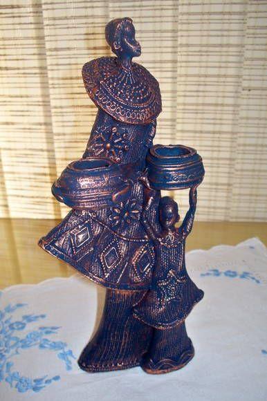 Africanas em gesso (venda separada)   Ateliê Lu França   Elo7