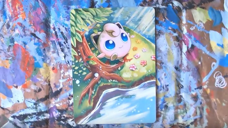 This Artist Paints on Pokémon TCG Cards And Turns Them Into Art #Anime #DIY #Games #Jigglypuff #Mew