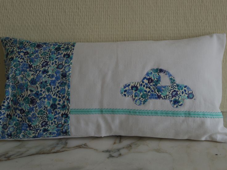 Housse De Coussin Blanc Et Gris Volant Plumetis Blanc Turquoise Textiles Et Libert