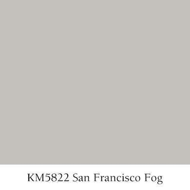 San Francisco Fog San Francisco Fog (Kelly-Moore KM5822) This color embodies its name. It's a fairly light, warm, silvery gray. I always recommend this color to my family and friends.